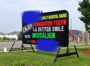 This photo was taken in Barrie.  Yup, Dr. Wong knows how to use Invisalign too, but will only use aligners when they will give good results.